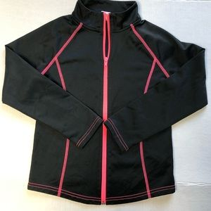 Girls CIRCO Track jacket Size 7/8 Black & hot pink